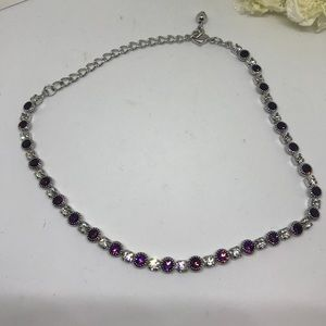 Swarovski Elements Jewelry - Purple Crystal Necklace w Swarokski Elements JW-8